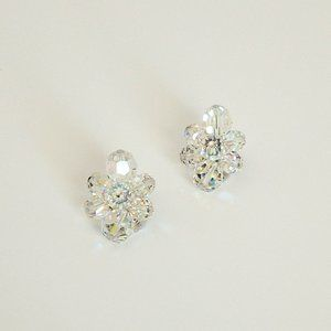 Sherman Aurora Borealis Austrian Crystal Earrings